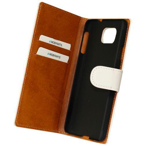 Productafbeelding van de Mobiparts Premium Wallet Case White Samsung Galaxy Alpha