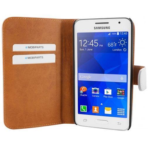 Productafbeelding van de Mobiparts Premium Wallet Case White Samsung Galaxy Core 2