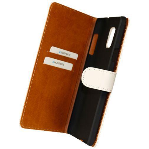Productafbeelding van de Mobiparts Premium Wallet Case White Samsung Galaxy Note 4