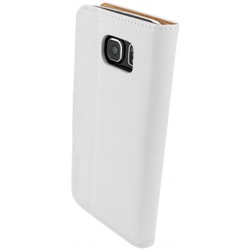 Productafbeelding van de Mobiparts Premium Wallet Case White Samsung Galaxy S6