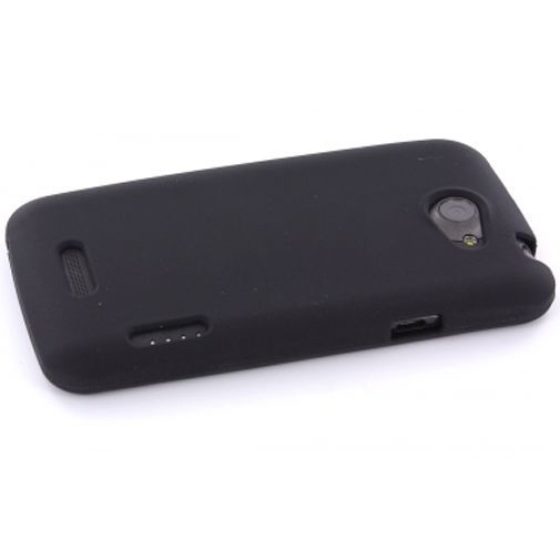 Productafbeelding van de Mobiparts Siliconen Case HTC One X Black