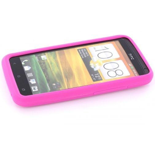 Productafbeelding van de Mobiparts Siliconen Case HTC One X Pink