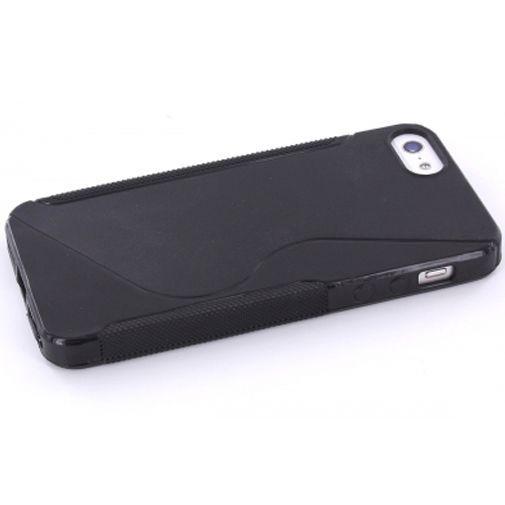 Productafbeelding van de Mobiparts TPU Case Apple iPhone 5 S-Shape Black
