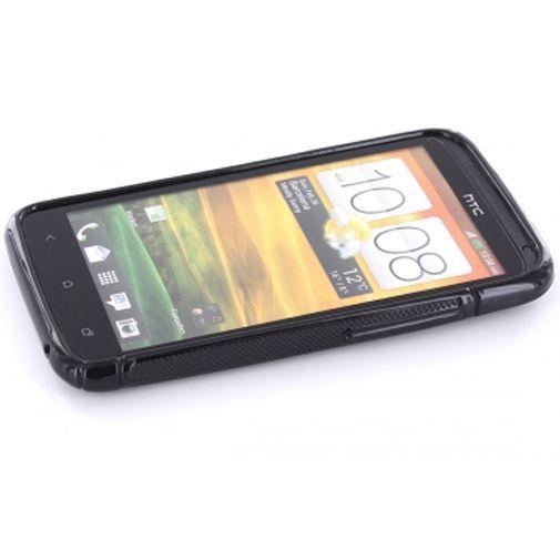 Productafbeelding van de Mobiparts TPU Case HTC One X S-Shape Black
