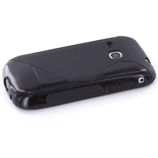 Productafbeelding van de Mobiparts TPU Case Samsung Galaxy Mini 2 S6500 S-Shape Black