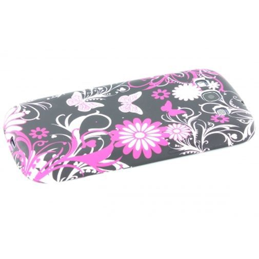 Productafbeelding van de Mobiparts TPU Case Samsung i9300 Galaxy S III Purple Flower