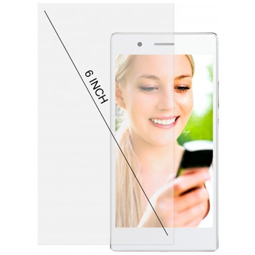 Productafbeelding van de Mobiparts Universele Clear Screenprotector 6 inch 2-Pack