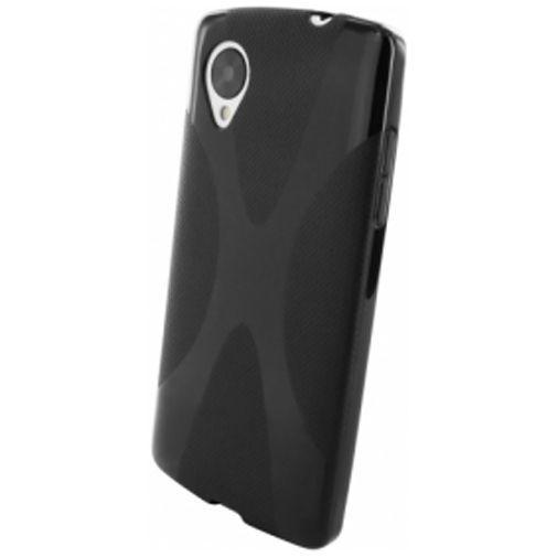 Productafbeelding van de Mobiparts X-Shape TPU Case LG Nexus 5 Black