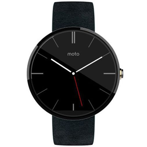 Produktimage des Motorola Moto 360 Leather Black