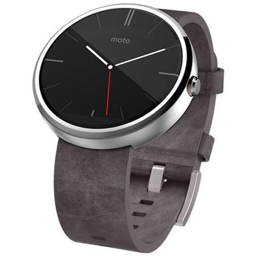 Productafbeelding van de Motorola Moto 360 Leather Silver