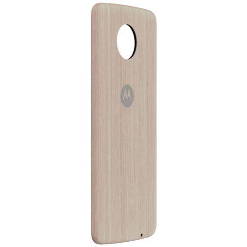 Productafbeelding van de Motorola Moto Mods Style Shell Washed Oak Wood