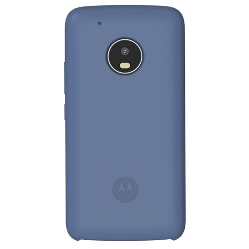 Productafbeelding van de Motorola Silicone Back Cover Blue Moto G5 Plus