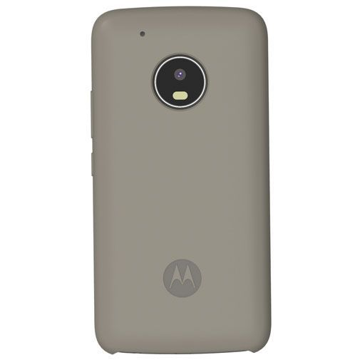 Productafbeelding van de Motorola Silicone Back Cover Grey Moto G5 Plus