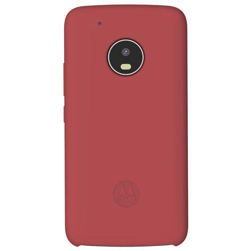 Productafbeelding van de Motorola Silicone Back Cover Red Moto G5 Plus
