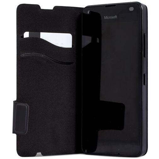 Productafbeelding van de Mozo Book Cover Black Microsoft Lumia 550