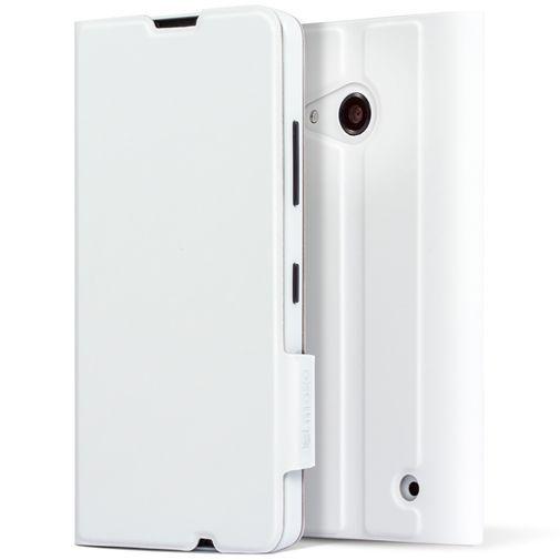 Productafbeelding van de Mozo Book Cover White Microsoft Lumia 550