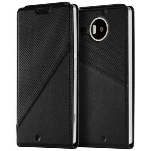 Productafbeelding van de Mozo Flip Cover Black Microsoft Lumia 950 XL