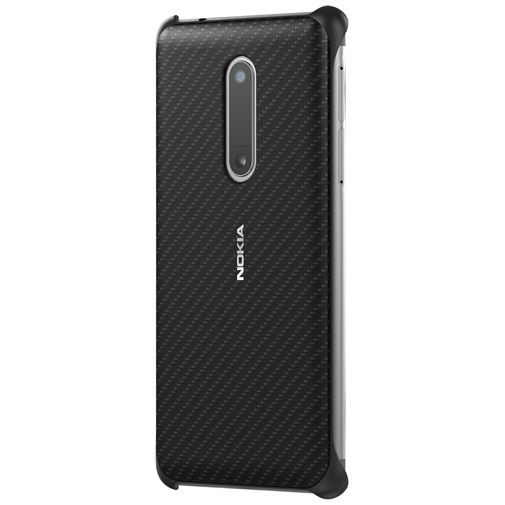 Productafbeelding van de Nokia Carbon Fibre Look Back Case Black Nokia 5