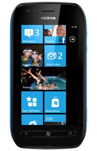Productafbeelding van de Nokia Lumia 710 Black Cyan