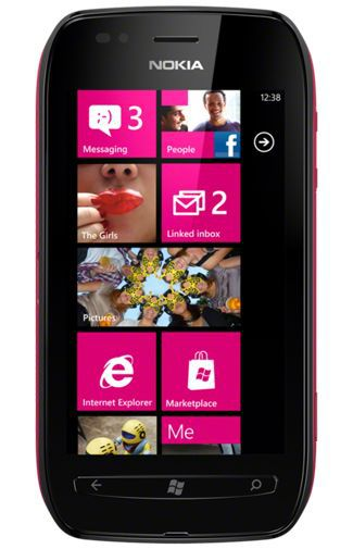 Productafbeelding van de Nokia Lumia 710 Black Fuchsia