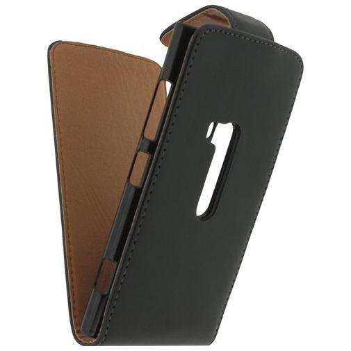 Productafbeelding van de Xccess Leather Flip Case Black Nokia Lumia 920