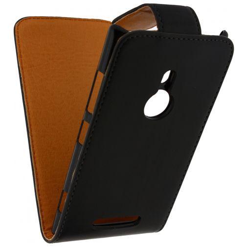 Productafbeelding van de Xccess Leather Flip Case Black Nokia Lumia 925