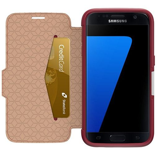 Productafbeelding van de Otterbox Strada 2.0 Leather Case Red Samsung Galaxy S7 Edge