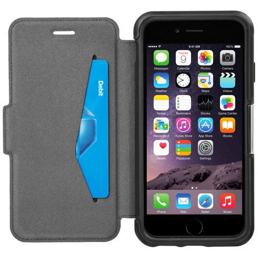 Productafbeelding van de Otterbox Strada Folio Case Black Apple iPhone 6/6S
