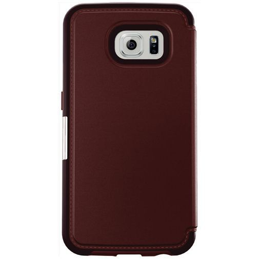 Productafbeelding van de Otterbox Strada Case Burgundy Samsung Galaxy S6