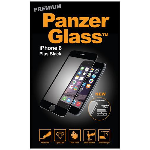 Productafbeelding van de PanzerGlass Premium Screenprotector Black Apple iPhone 6 Plus/6S Plus