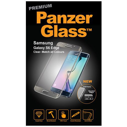 Productafbeelding van de PanzerGlass Premium Screenprotector Clear Samsung Galaxy S6 Edge