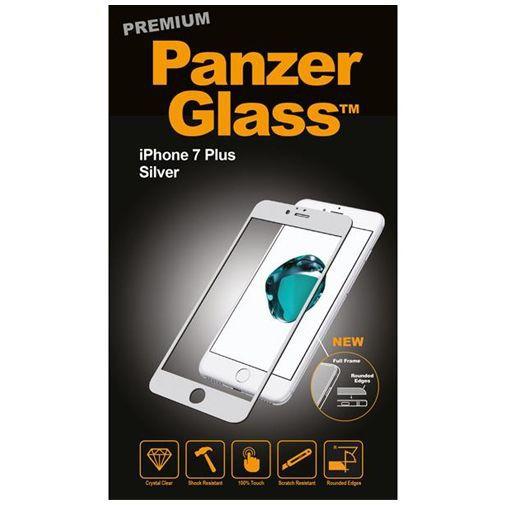 Productafbeelding van de PanzerGlass Premium Screenprotector Silver Apple iPhone 7 Plus