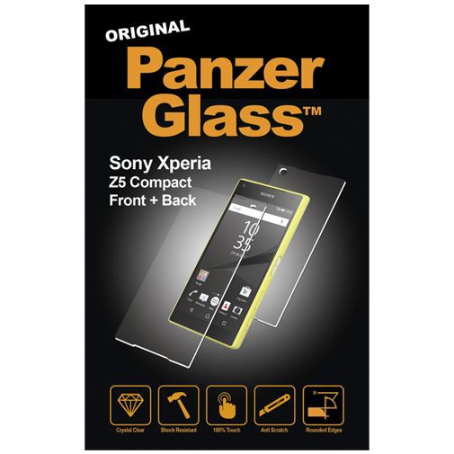 Productafbeelding van de PanzerGlass Screenprotector Front and Back Sony Xperia Z5 Compact