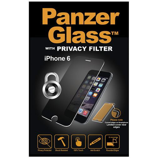 Productafbeelding van de PanzerGlass Screenprotector Privacy Apple iPhone 6/6S