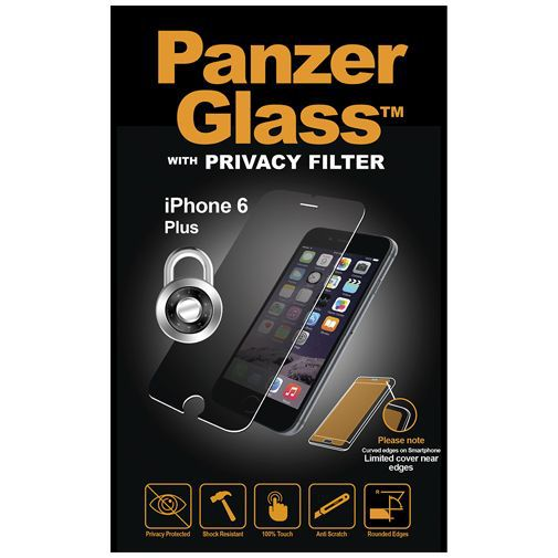 Productafbeelding van de PanzerGlass Screenprotector Privacy Apple iPhone 6/6s Plus