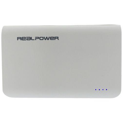 Productafbeelding van de RealPower Powerbank 6000 mAh White