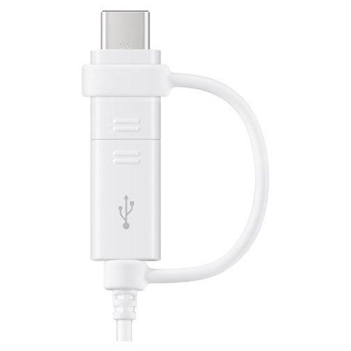 Produktimage des Samsung 2-in-1-Datenkabel USB-C & Micro USB 1,5 Meter EP-DG930 Weiß