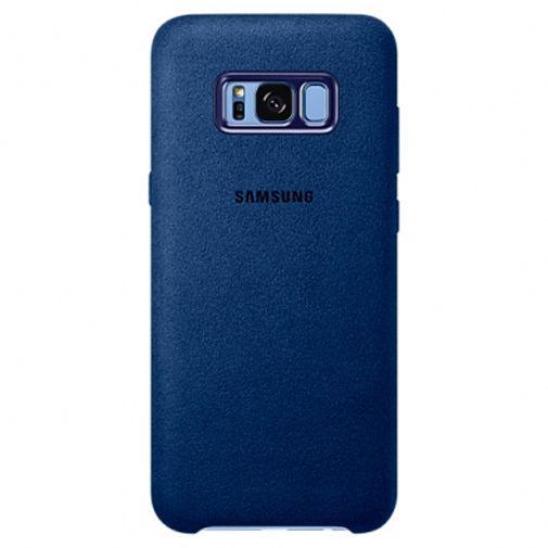 Productafbeelding van de Samsung Alcantara Back Cover Blue Galaxy S8+