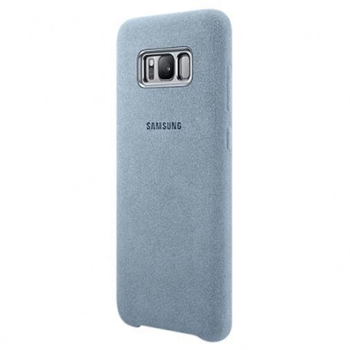 Productafbeelding van de Samsung Alcantara Back Cover Grey Galaxy S8+