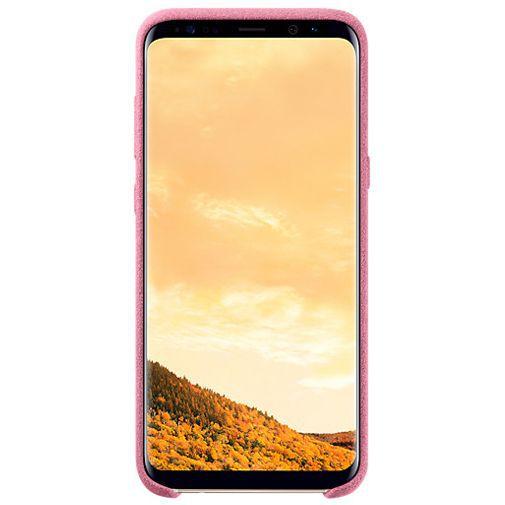 Productafbeelding van de Samsung Alcantara Back Cover Pink Galaxy S8+
