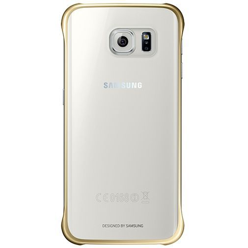 Productafbeelding van de Samsung Clear Cover Gold Galaxy S6 Edge