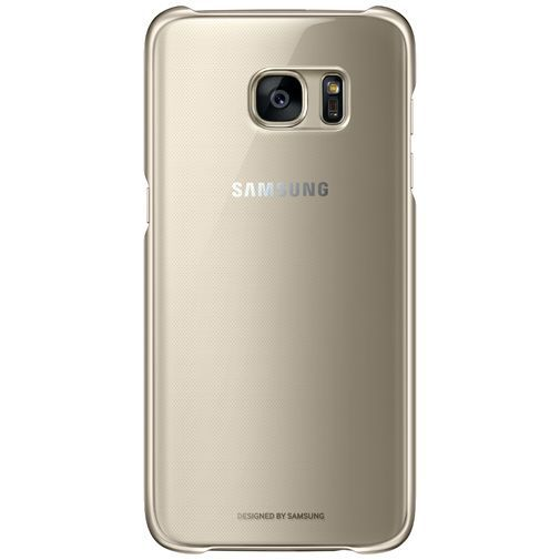 Productafbeelding van de Samsung Clear Cover Gold Galaxy S7 Edge