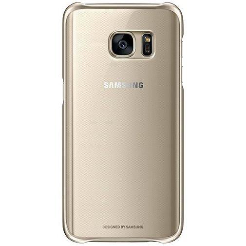 Productafbeelding van de Samsung Clear Cover Gold Galaxy S7