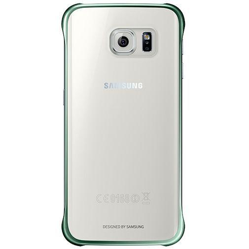 Samsung Clear Cover Green Galaxy S6 Edge