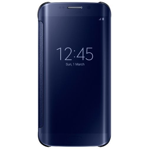 Productafbeelding van de Samsung Clear View Cover Black Galaxy S6 Edge