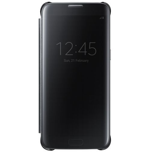 Productafbeelding van de Samsung Clear View Cover Black Galaxy S7 Edge