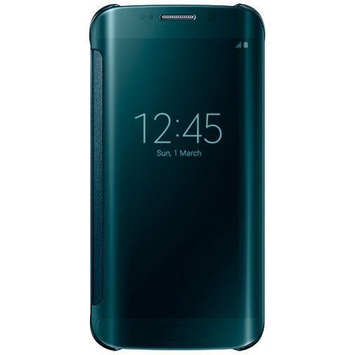 Productafbeelding van de Samsung Clear View Cover Green Galaxy S6 Edge