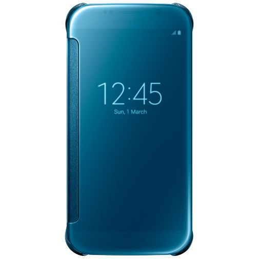 Productafbeelding van de Samsung Clear View Cover Blue Galaxy S6
