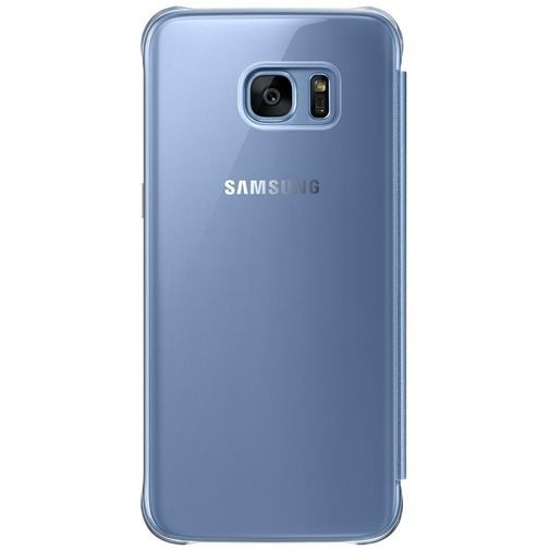 Productafbeelding van de Samsung Clear View Cover Blue Galaxy S7 Edge