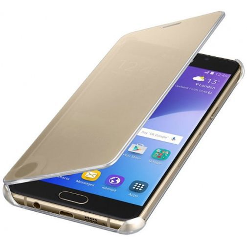 Productafbeelding van de Samsung Clear View Cover Gold Galaxy A5 (2016)